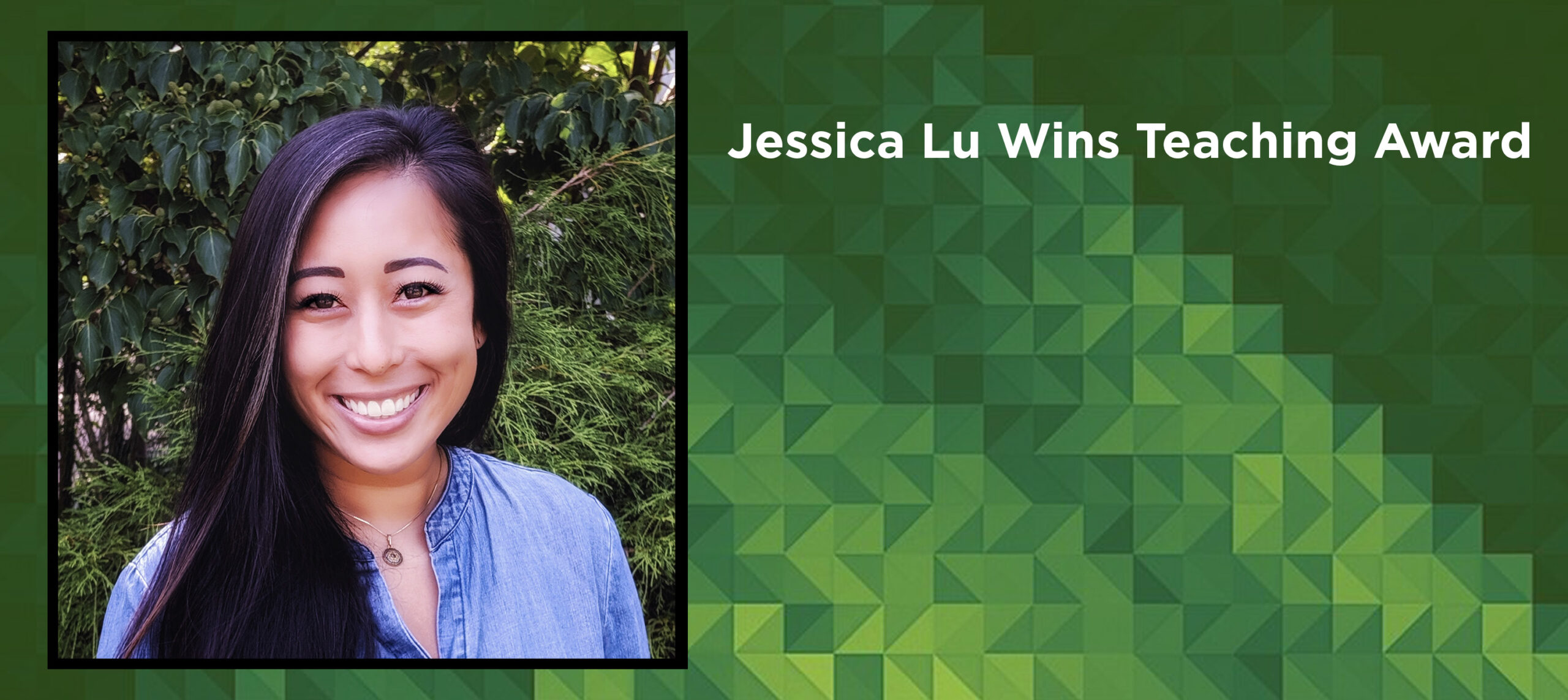 Jessica Lu Wins Teaching Award